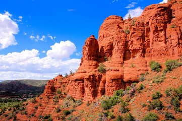 Scenic red cliffs at Sedona, Arizona, USA