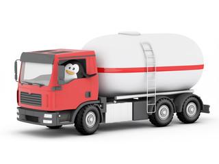 Penguin  lpg cylinder delivery driver