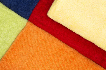 Colorful background pattern of cotton towels