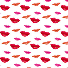 Sweet kisses – seamless pattern