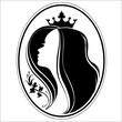 Silhouette of princess.
