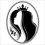 Silhouette of princess.
