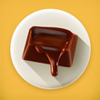Chocolate, long shadow vector icon