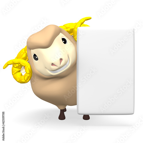 Smile Sheep And White Text Space