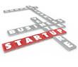Startup Word Tiles Business Company Enterprise Venture