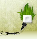 grass and a socket