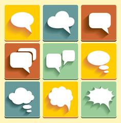 Set Speech bubble icons