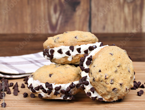 Ice Cream Chocolate Chip Cookie Sandwices