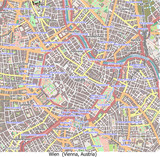 Vienna Austria Europe city hi res aerial view map