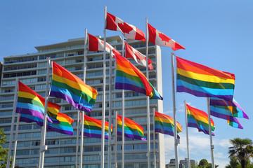 Vancouver Gay Pride Flags