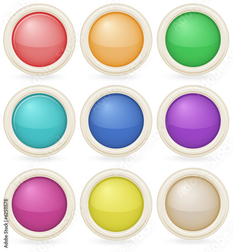 Colorful web design buttons