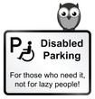 Monochrome Disabled Parking sign