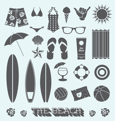 Vector Set: Under the Sun Beach Icons