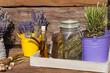 canvas print picture - Sommerernte - Lavendel, Rosmarin und Mohn