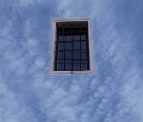 window in the sky with clouds