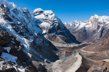 Himalayas in Everest region from Mera trekking peak route, Nepal