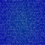 Blue screen binary code screen