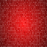 Red screen binary code screen