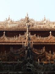 Shwenandaw Minastery teak wood templa Mandalay Myanmar