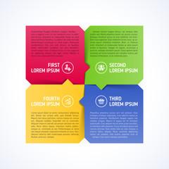 Four consecutive step design element template
