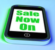 Sale Now On Phone Shows Promotional Savings Or Discounts