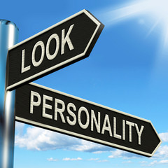 Look Personality Signpost Shows Appearance And Character