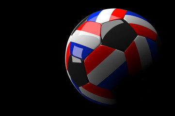 Netherlands soccer ball on dark background