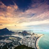 Fototapety Aerial sunset view of Rio de Janeiro,Brazil