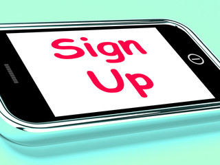 Sign Up On Phone Shows Join Membership Register