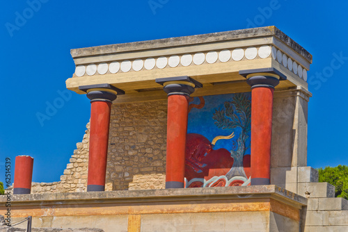 Northern entrance to Knossos palace, island of Crete