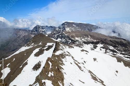 Spring view from mountain Veleta in the Sierra Nevada