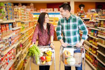 Flirting at the supermarket