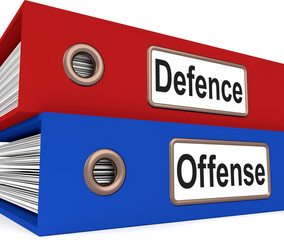 Defence Offense Folders Mean Protect And Attack