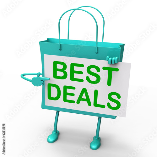 Best Deals Bag Represents Bargains and Discounts