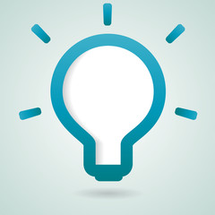 Idea Bulb info-graphic design