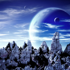 Beautiful space scene