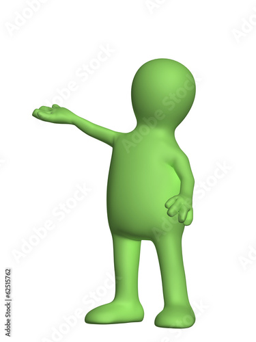 Puppet on white background