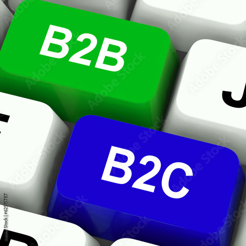 B2B And B2C Keys Mean Business Partnerships Or Consumer Relation