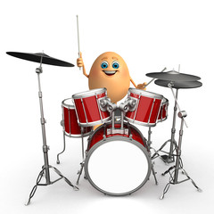 Happy Egg with drums