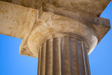 Classical Doric order example with upper part of column