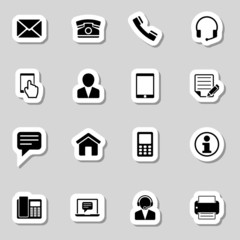 Contact  Icons Set as Labes
