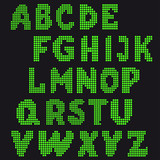 pixel vector set of letters for design