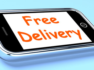 Free Delivery On Phone Shows No Charge Or Gratis Deliver