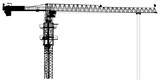 single isolated industrial building crane