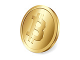 Golden Bitcoin coin, decentralized cryptocurrency