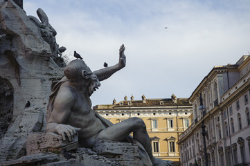 Piazza Navona ,particolare