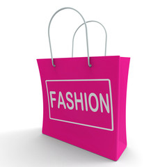 Fashion Shopping Bag Shows Fashionable Trendy And Stylish