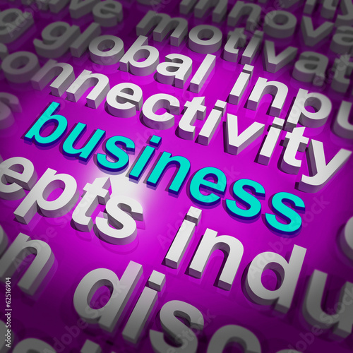Business Word Cloud Shows Commercial Trade Or Deal