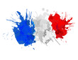 French flag made of colorful splashes - 62517720