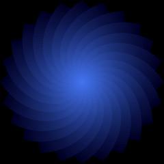 Rotation. Abstract blue backdrop.